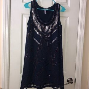 Urban Outfitters blue sequins dress